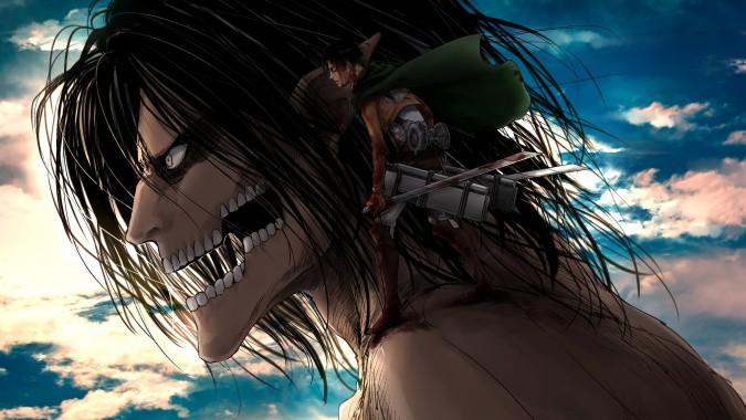 Attack On Titan Wallpaper Hair Cg Artwork Black Hair Anime Sky 10284 Wallpaperuse