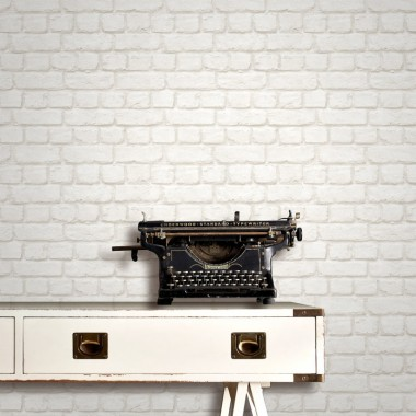 White Brick Wallpaper B Q Typewriter Wall Office Equipment Tile Wallpaper 725667 Wallpaperuse