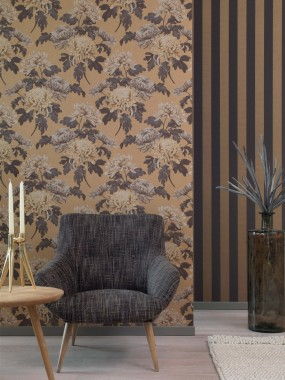 Living Room Wallpaper B Q Wallpaper Wall Yellow Interior Design Room 126714 Wallpaperuse